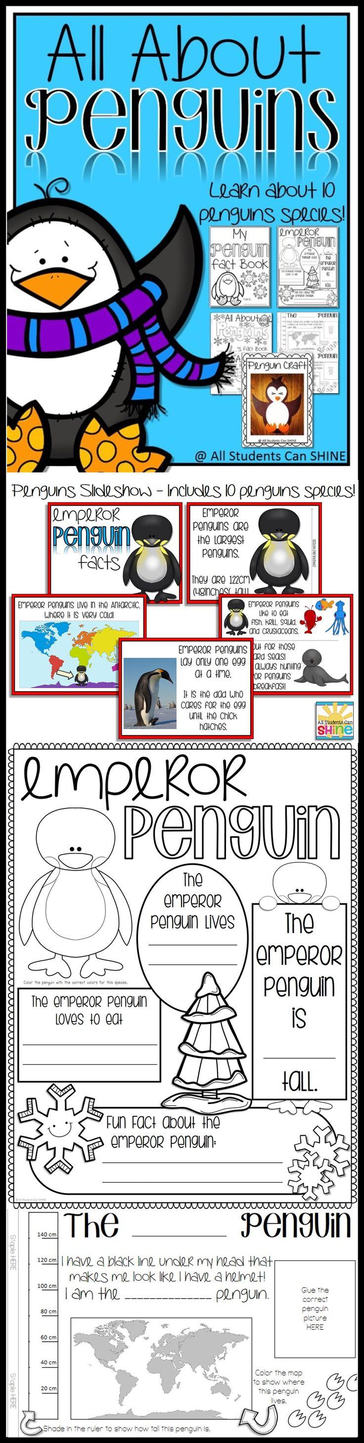Plenty of penguin activities! I can't wait to start my penguins unit :)