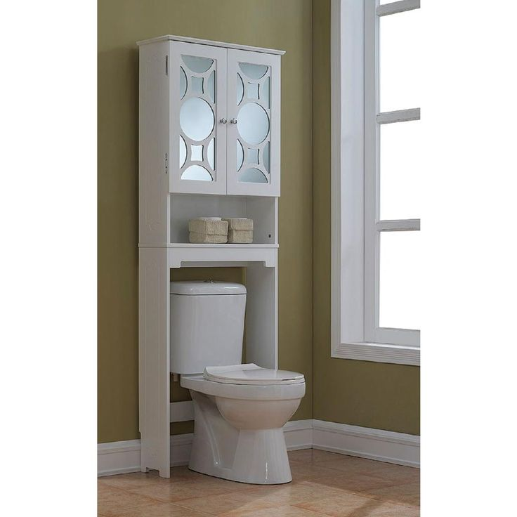 Runfine 24 in. W x 68-4/5 in. H x 9-1/4 in. D Over the Toilet Storage Cabinet wi…   – over toilet cabinets
