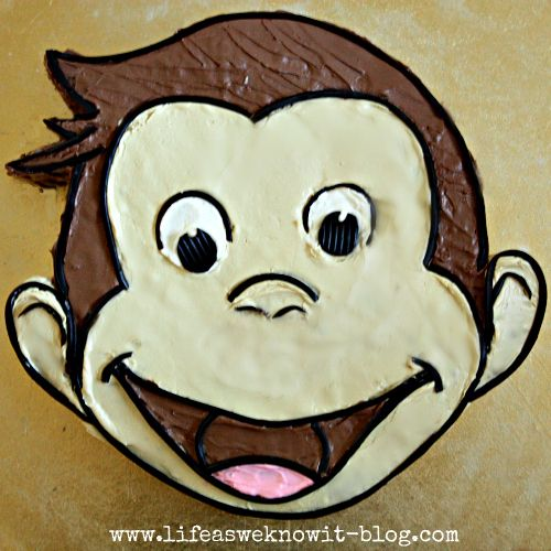 How to create a Curious George Cake...via the Life as we know it blog.