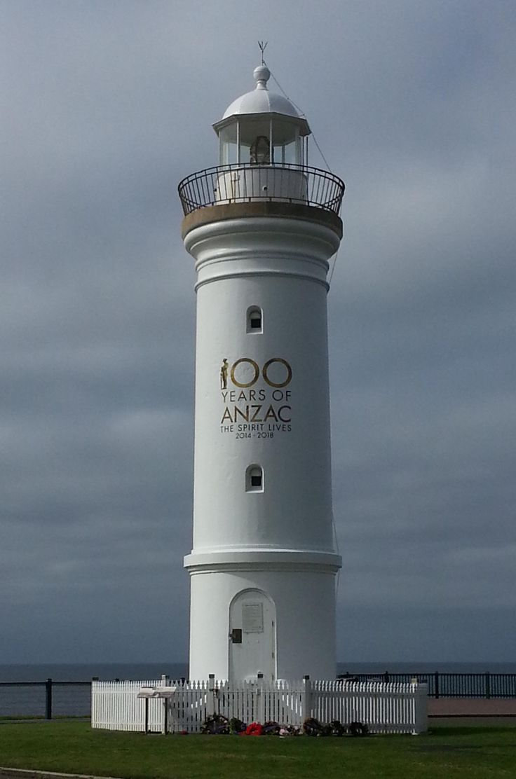 Kiama Lighthouse was built in 1887 and the light was automated in 1920. This was taken 4th April 2015. Lest we Forget.