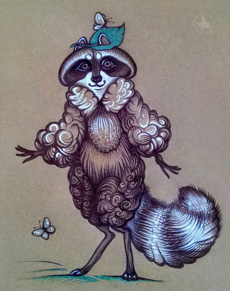 Lady Raccoon by Yullapa