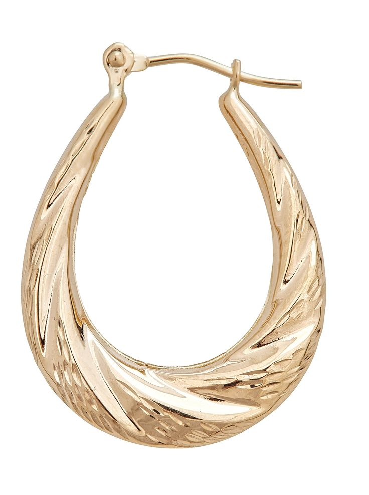 14K Gold Oval Twist Hoop Earring. 14K SOLID GOLD: This product is made of solid 14K gold and each piece is carefully trademarked with the metal purity for certification. Each piece is stamped 14K or 585 and guarantees the quality and craft. DESIGN: These Earrings are a classic look, and make a great gift for all!. FINISH: Polished Finish, a clean and classy look. CLOSURE: This item is secured with a Snap Bar for added Security. SIZES & COLORS: This item is available in one color. Grab it...