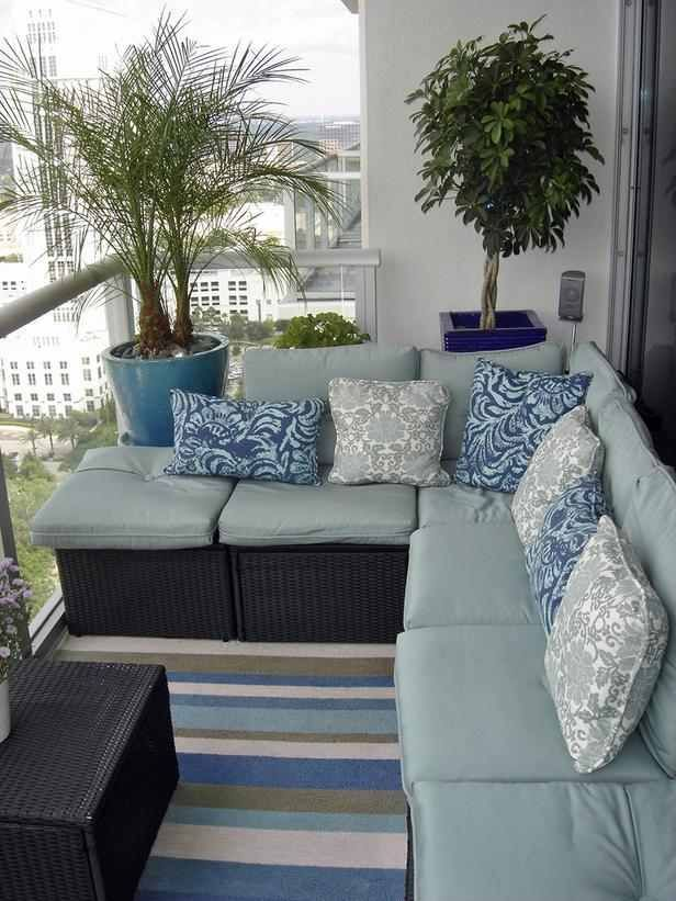 designer blue choosing a color scheme can set the tone for your patio area rms user furnished the space with discount blue cushions pillows and flooring