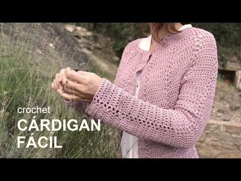Tutorial Cárdigan Fácil Crochet o Ganchillo en Español, My Crafts and DIY Projects