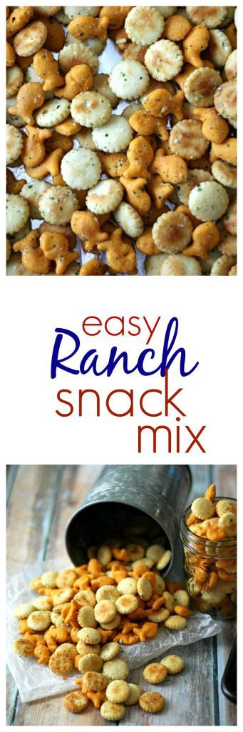Easy Ranch Snack Mix - made this for Florida trips, big hit! - perfect for tourneys