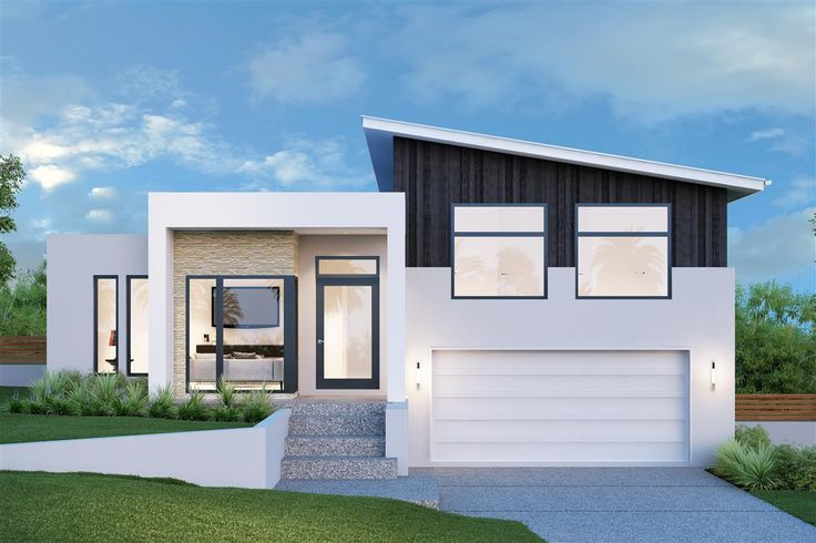 Elegant split level design, perfectly suited to sites that slope sideways. The large master bedroom is on the ground floor & features a stylish double ensuite, walk-in robe and study area, with good separation from four upstairs bedrooms. Regatta 264, Urban Façade. #GJQLD #GJNSW. Click for more options: http://www.gjgardner.com.au/data/designs/13525_14.pdf