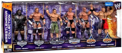 Mattel WWE Wrestling Exclusive Wrestlemania Collection Action Figure 6-Pack  http://www.bestdealstoys.com/mattel-wwe-wrestling-exclusive-wrestlemania-collection-action-figure-6-pack/