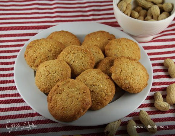 Арахисовое печенье. Ингредиенты: арахис, мука, сахар