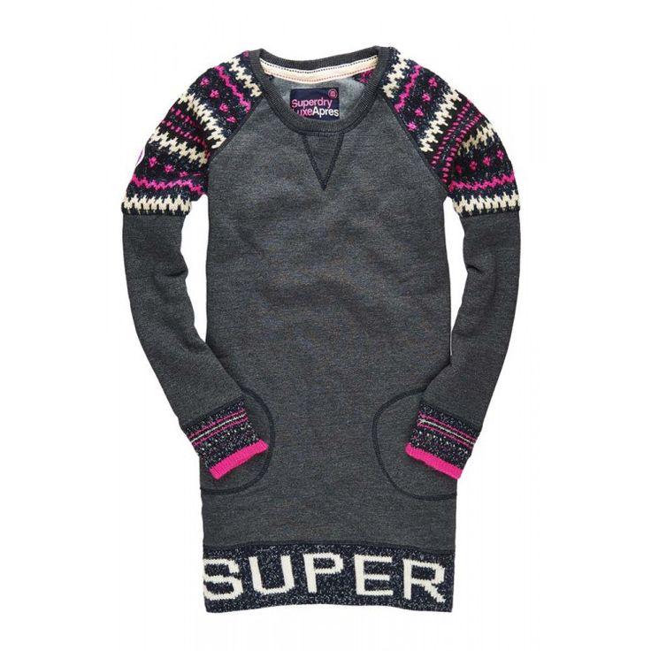 Superdry Retro Knit Panel Sweat Dress | John-Andy.com