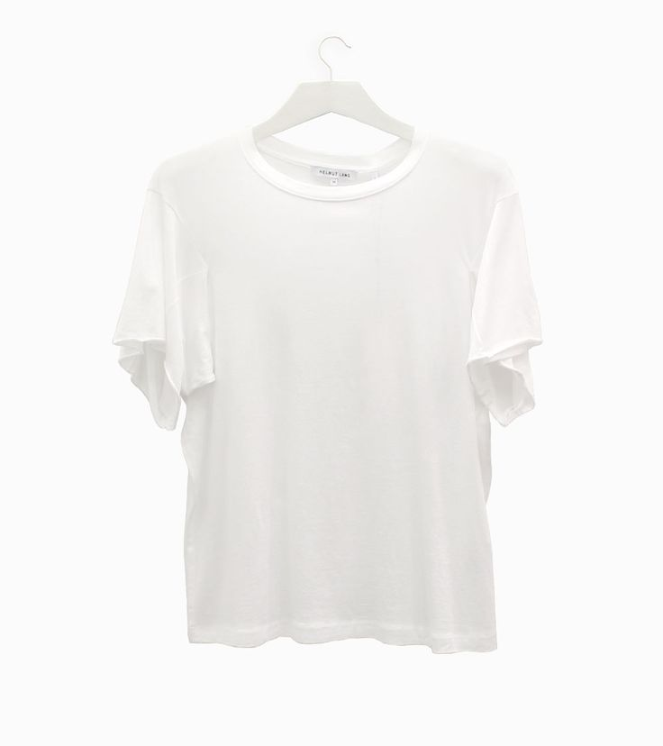 Helmut Lang: He was never away, but today he's more than ever present in the world of fashion. Pima cotton and modal t-shirt. #arropame #conceptstore #bilbao #ss2016 #HelmutLang #fashion #shopping #moda #trendy #style #camiseta http://arropame.com/helmut-lang-ha-vuelto/