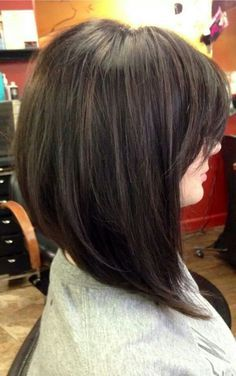 aline layered bob with bangs - Google Search