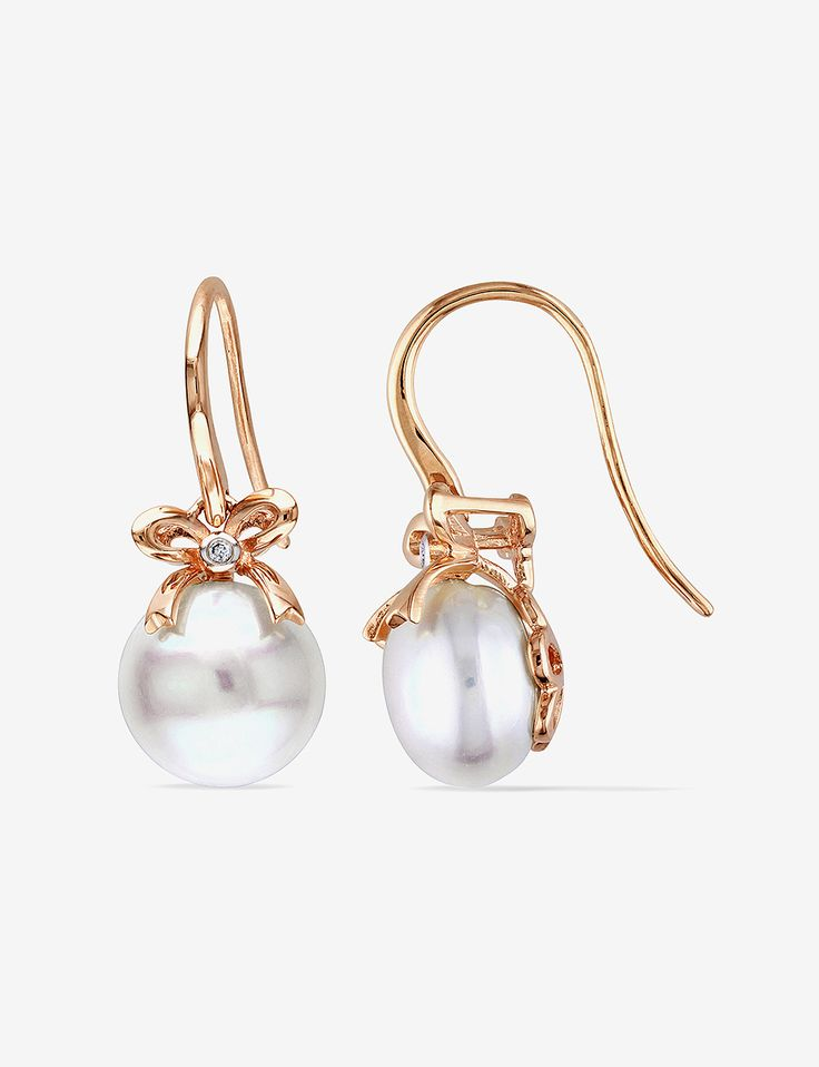 Shop today for Amour 0.01 CT. T.W. 10K Rose Gold Diamond & 10.5-11mm White Pearl Earrings & deals on Earrings! Official site for Stage, Peebles, Goodys, Palais Royal & Bealls.