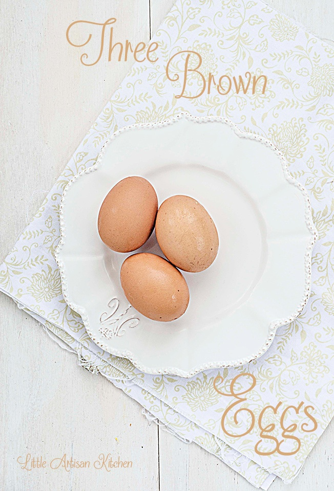 3 brown eggs by Little Artisan Kitchen