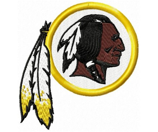 Washington Redskins logo machine embroidery design for instant download