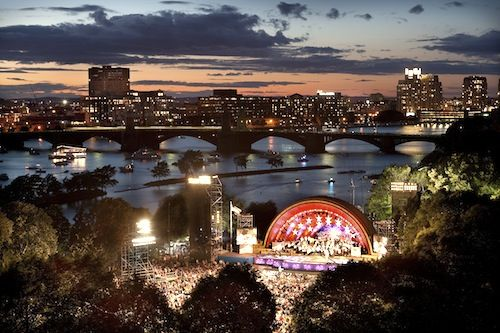The spectacular Boston fireworks and Pops concert celebrate July 4th along the Charles River Esplanade. Tips about where to find best viewing spots along the river.