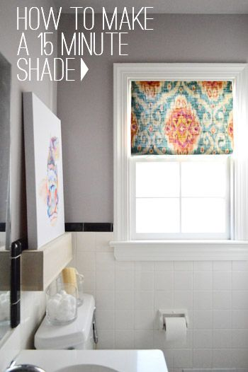 DIY 15 minute Fabric window shade.