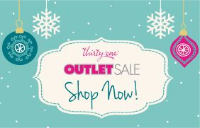 Outlet Sale!!  Starting 2pm December 28, 2015 - December 29, 2015!  www.mythirtyone.com/227520  Don't miss out!