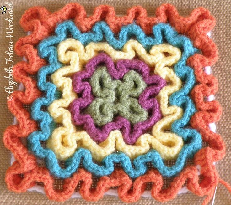 How to make these squiggle trivets.