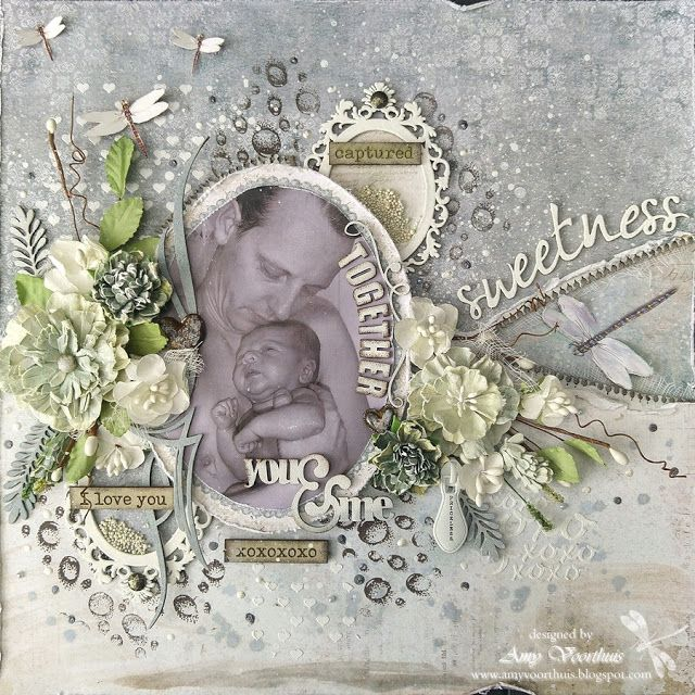 """Amy's Pretty Papers: """"You and Me Together"""" layout. 49 and Market products used: Vintage Artistry collection"""