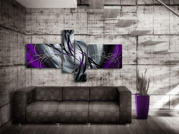 Oljemålning Mystic #Purple #Handmålad modern stor #abstrakt tavla i #lila nyanser, stora abstrakta #tavlor passar till varje modernt hem och kontor. En handmålad #tavla ger alltid ett mer uttrycksfull intryck.