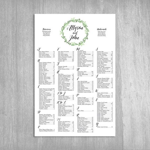 57 best Wedding Seating Chart images on Pinterest Wedding - free printable seating chart