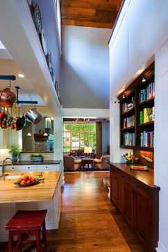 Nice built-in for cookbooks and large item storage. Bon Ton Residence - craftsman - kitchen - other metro - Locati Architects