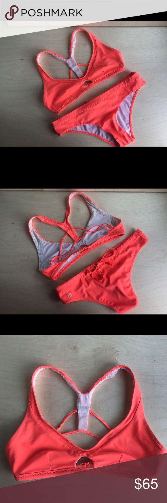lululemon Coral Badeanzug Riemchen lululemon Bikinioberteil – in kleinen …