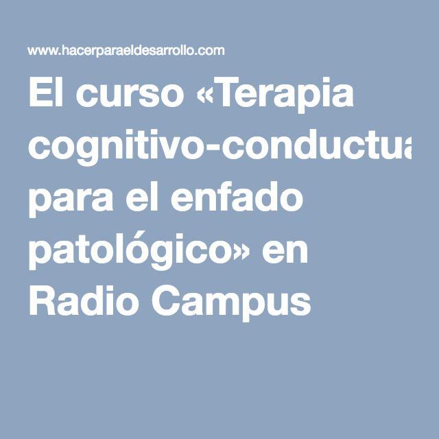 El curso «Terapia cognitivo-conductual para el enfado patológico» en Radio Campus