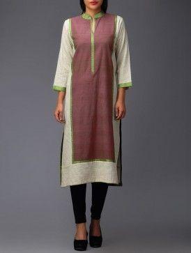Green Front-Panel Organic Cotton Tunic