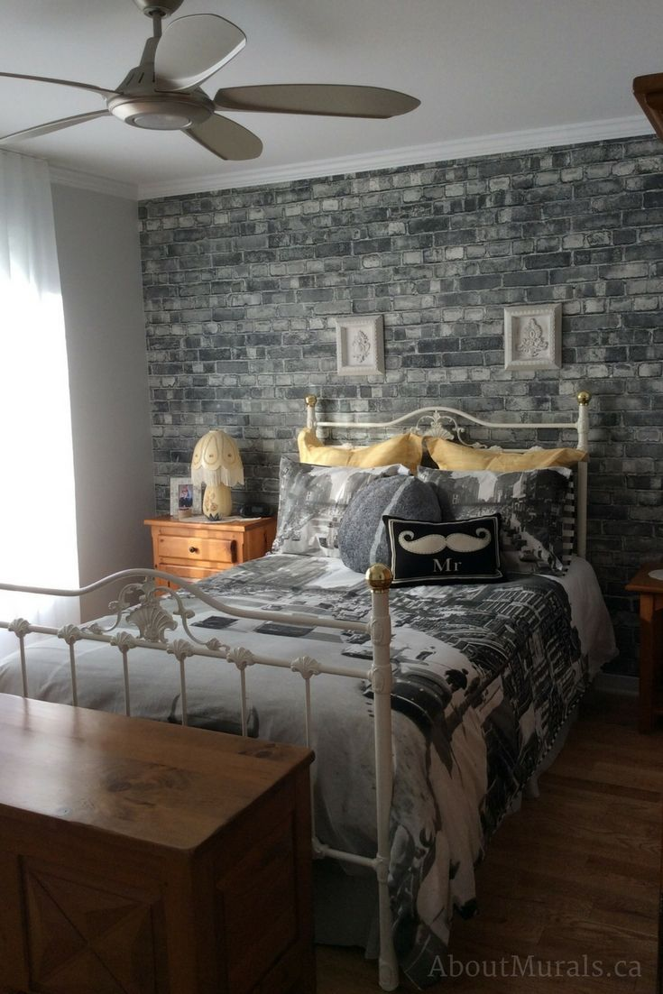 Grey Brick Wallpaper Brick Wallpaper Bedroom Brick Room Brick Wall Bedroom