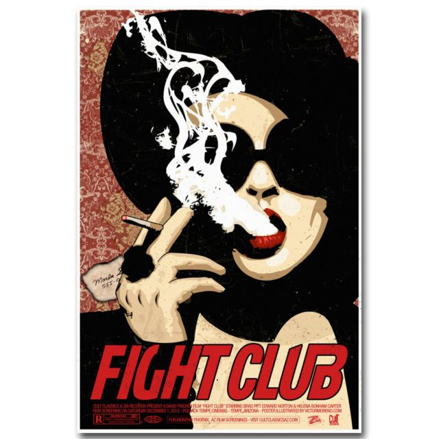 Movie Silk Poster 13x20 24x36 inch 1999 Fight Club
