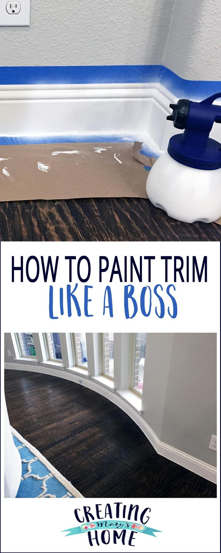 How To Paint Trim Like a Boss