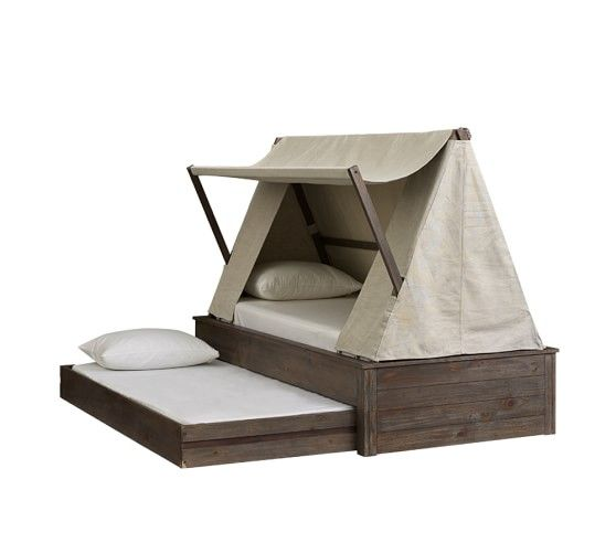 Wyatt Trundle Platform Bed Amp Canopy Pottery Barn Kids