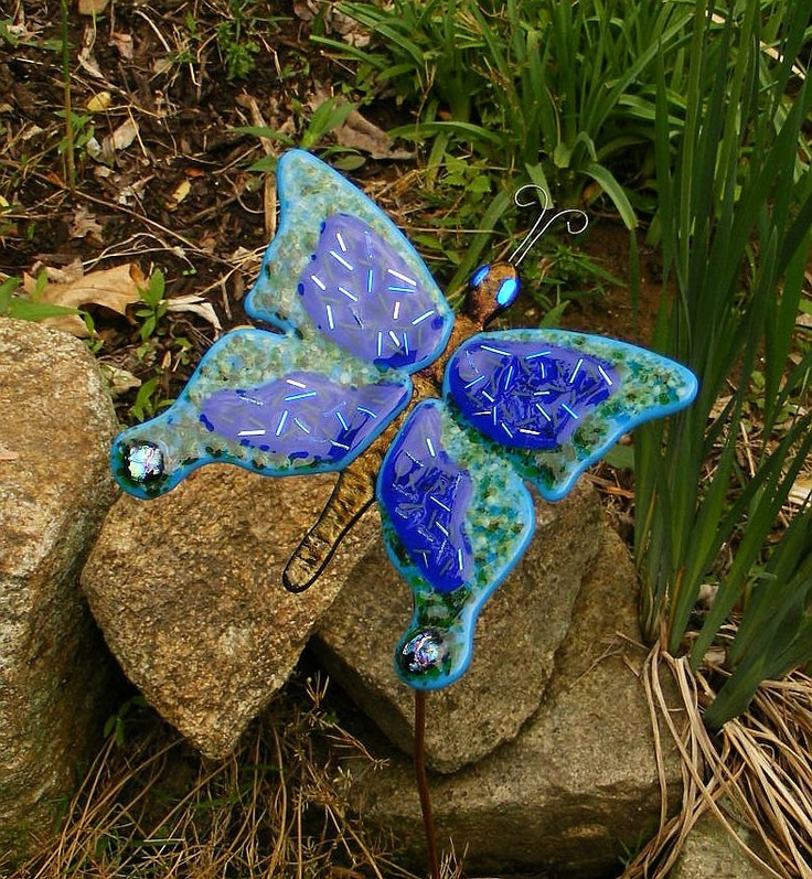 7 Best Images About Fused Glass Garden Stakes On Pinterest
