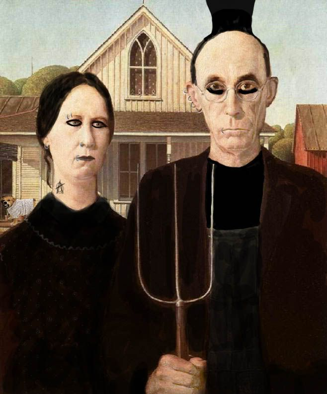 american gothic grant wood essay Grant wood had arrived american gothic would always remain his most famous and most enduring work, but others became well-known during the thirties stone city, iowa, parson weem's fable, and midnight ride of paul revere all achieved fame on their own, and then were purchased by such hollywood names as katherine hepburn and edward g robinson.