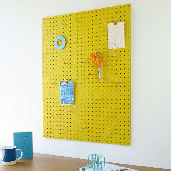 Block Large PegBoard - Yellow