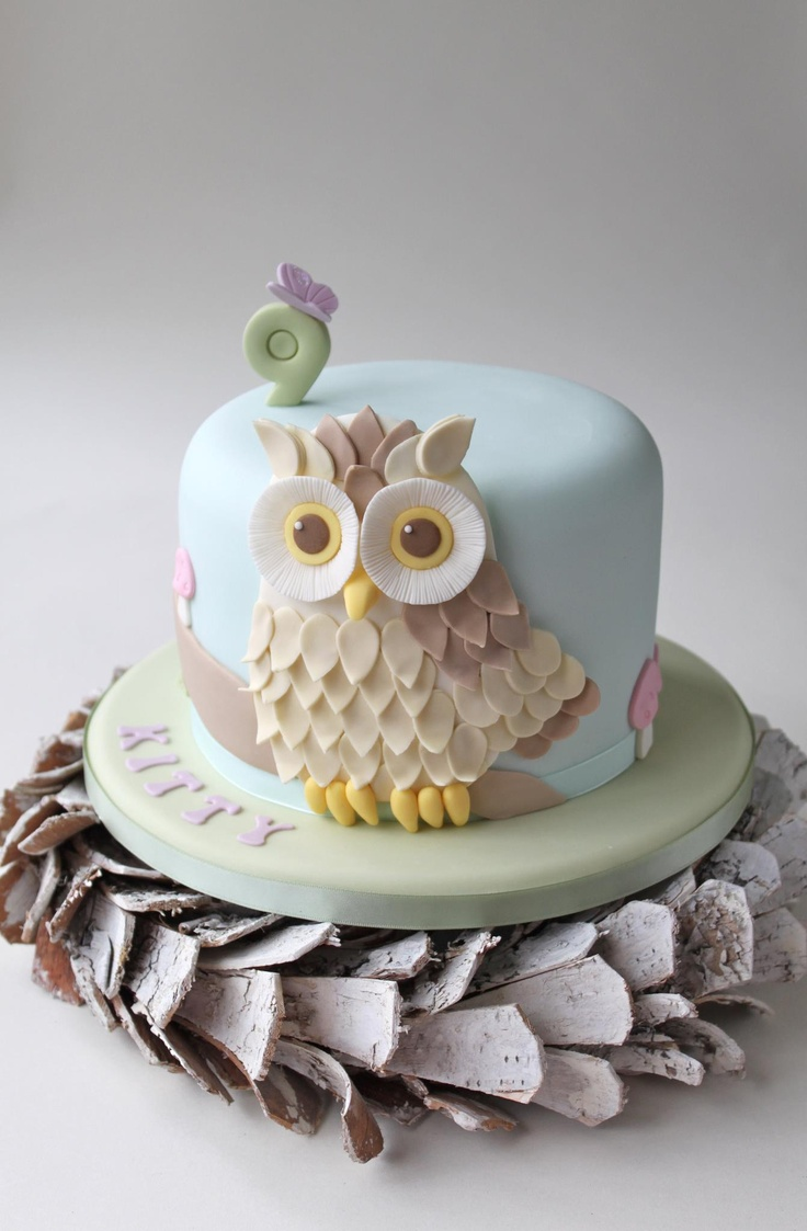 Owl baby shower decorations blue bathroom design amp decor owl - Adorable Owl Cake Helen Palmer Holder