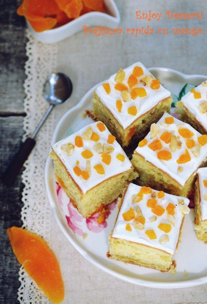Easy mango & vanilla cake