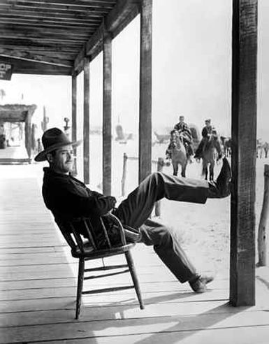 """Wyatt Earp (Henry Fonda) to Doc Holliday (Victor Mature): """"I've heard a lot about you, too, Doc. You left your mark around in Deadwood, Denver and places. In fact, a man could almost follow your trail goin' from graveyard to graveyard."""" -- from My Darling Clementine (1946) directed by John Ford"""