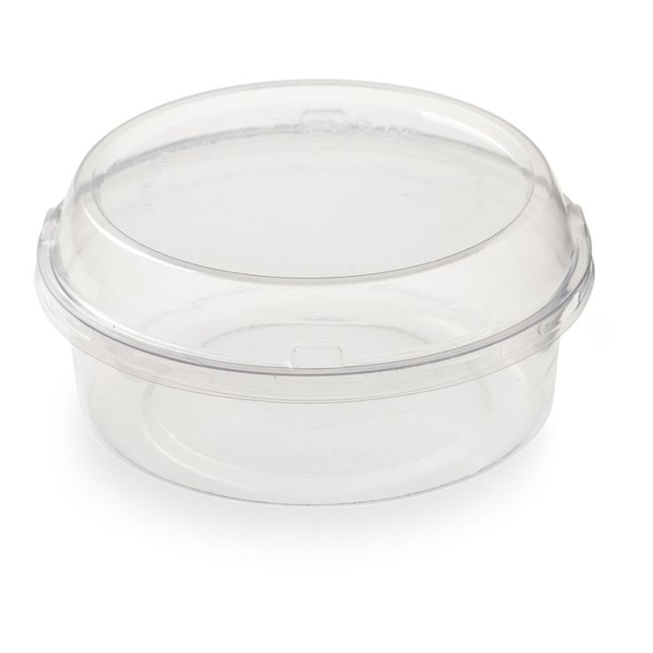 Basic nature 8 oz round clear pla plastic to go deli
