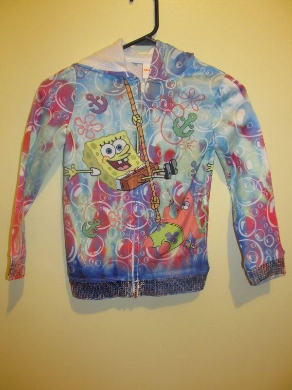 Spongebob Squarepants hoodie - Nickelodeon girls size 7 / 8 | Collectibles, Animation Art & Characters, Animation Characters | eBay!