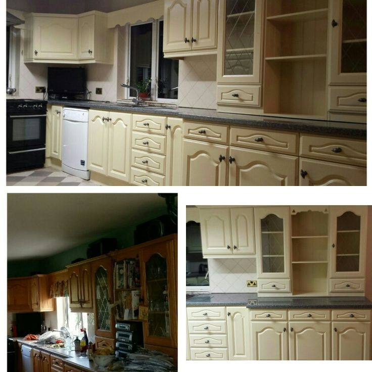 Jmc coatings re sprayed this dark kitchen with matchstick from farrow and ball