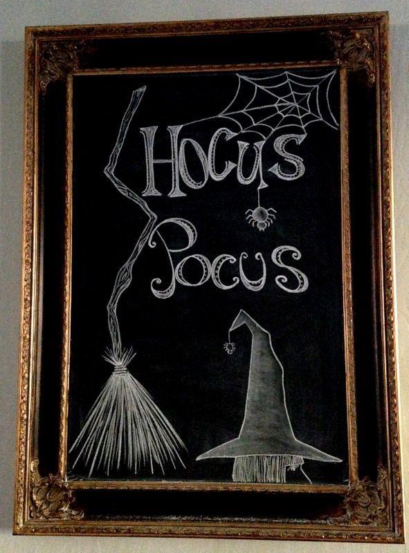 bewitching chalk art, chalkboard paint, crafts