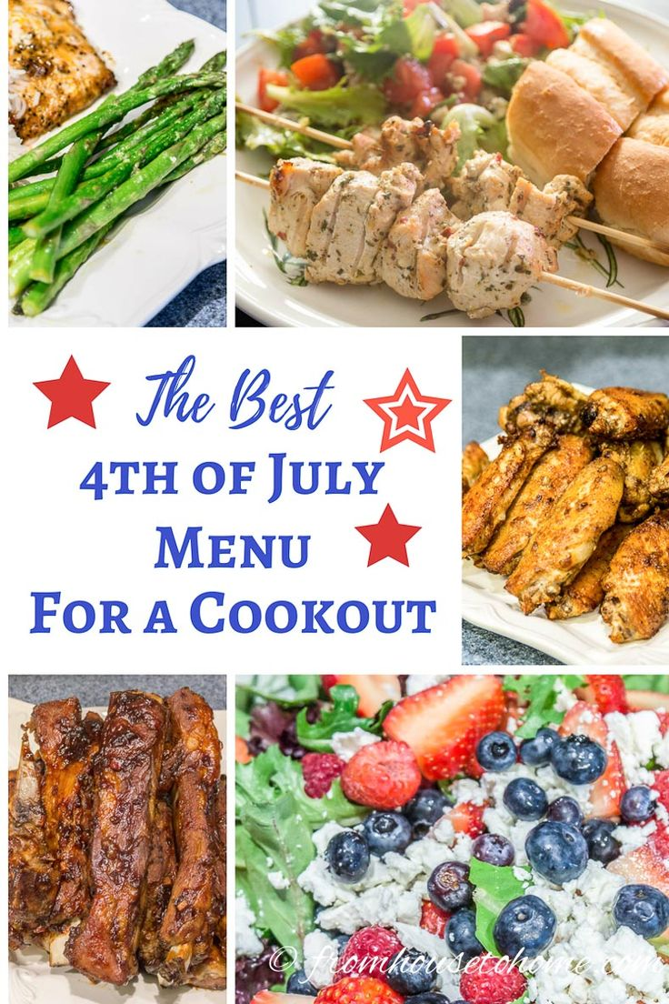 Best 4th of July Menu For a Cookout | Looking for ideas for your 4th of July cookout menu? These tried-and-true recipes are always a big hit with my crowd, and they can be prepared ahead of time so you have time to enjoy the party.