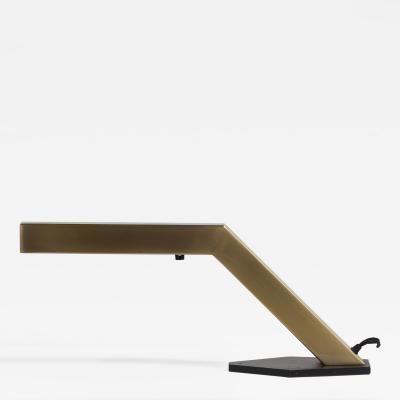 A Single Sculptural Brass Desk Lamp 1970s by