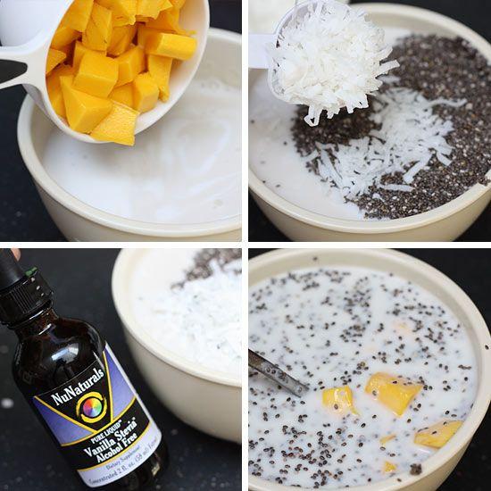 Mango Coconut Chia Pudding Recipe — Dishmaps
