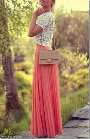Really want one of these pleated chiffon maxi skirts in a bright color. Can't ever find it in petite!