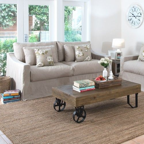stonemill coffee table living room display