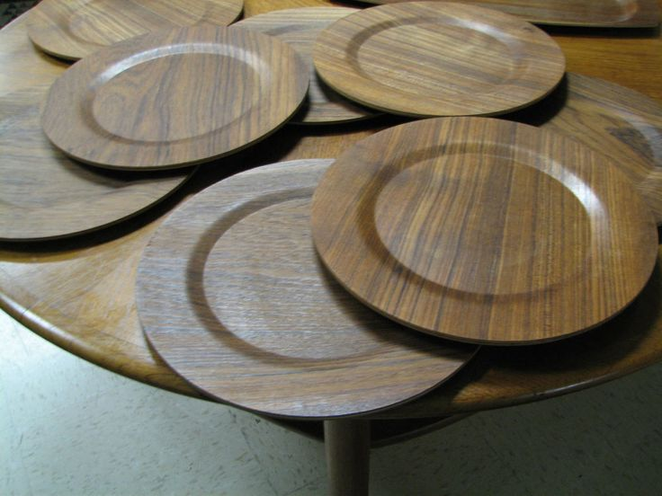 Set of 8-12 inch 30cm AB ARY-NYBRO Teak CHARGER Plates MADE IN SWEDEN $199