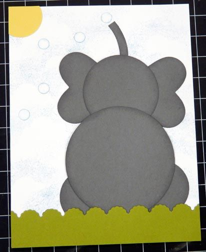Jun 2012 - SUO Punch Art Elephant CF by CrysCraft - Cards and Paper Crafts at Splitcoaststampers
